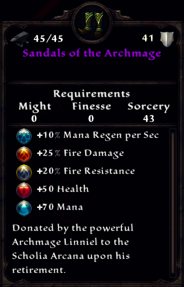 Sandals of the Archmage