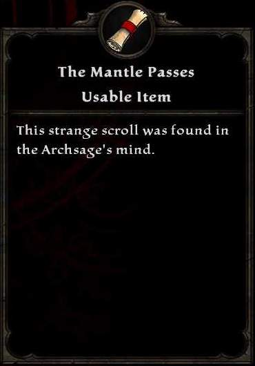 The Mantle Passes