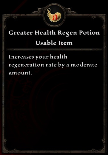 Greater Health Regen Potion