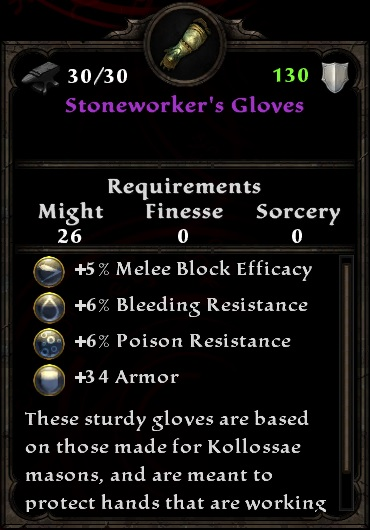 Stoneworker's Gloves