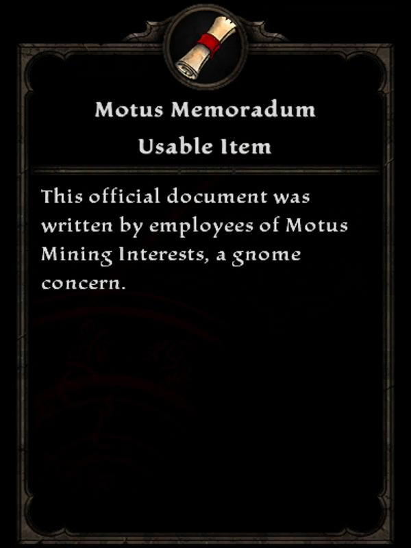Motus Memorandum