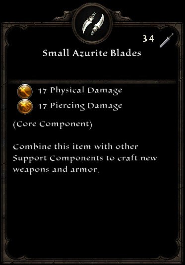 Small Azurite Blades