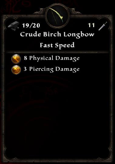 Crude Birch Longbow