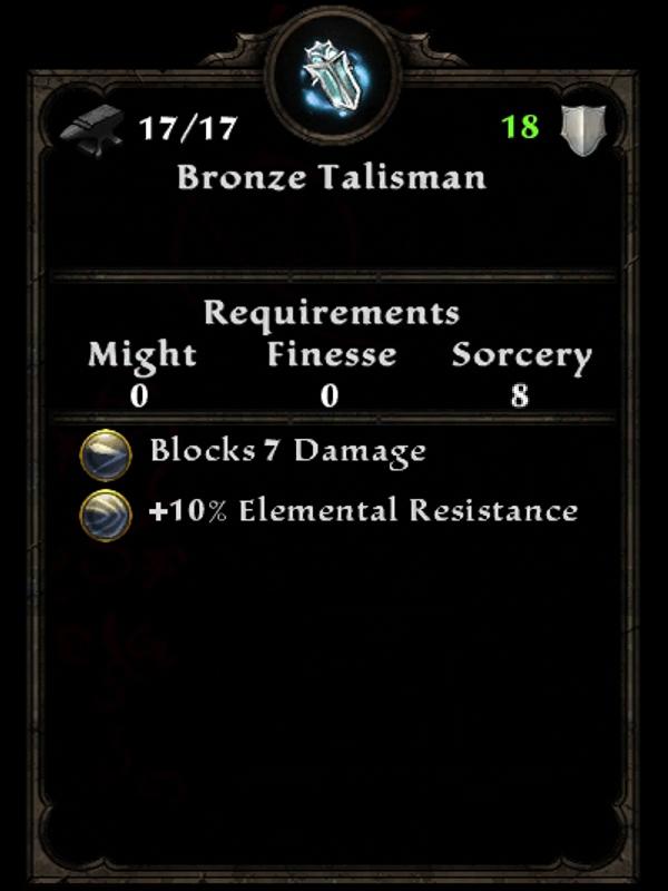 Bronze Talisman