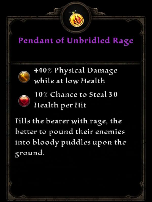 Pendant of Unbridled Rage