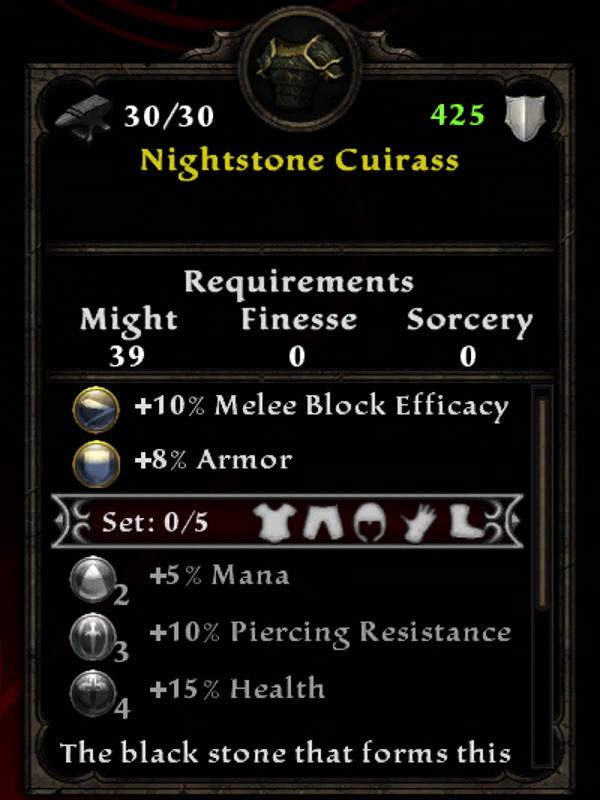 Nightstone Cuirass