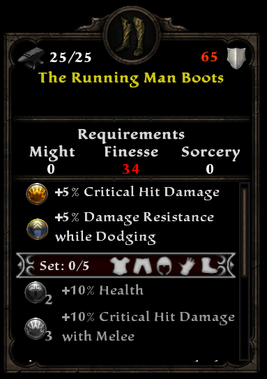 The Running Man Boots