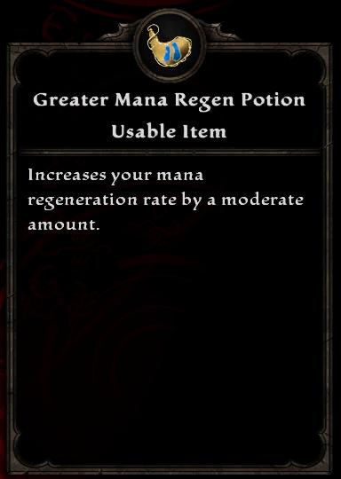 Greater Mana Regen Potion