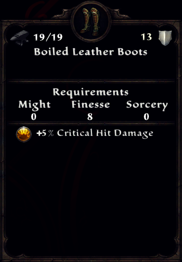Boiled Leather Boots