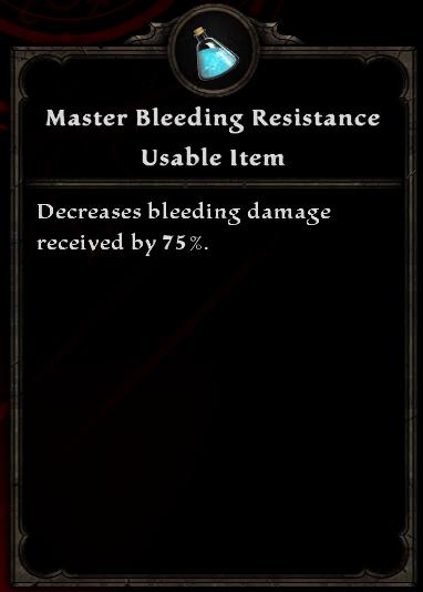 Master Bleeding Resistance