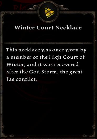 Winter Court Necklace