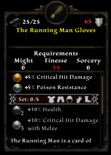 The Running Man Gloves
