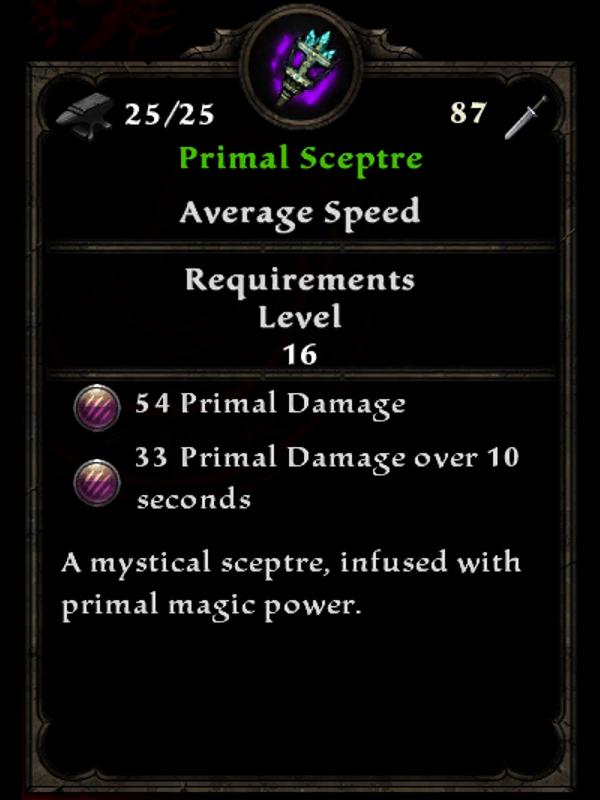 Primal Sceptre