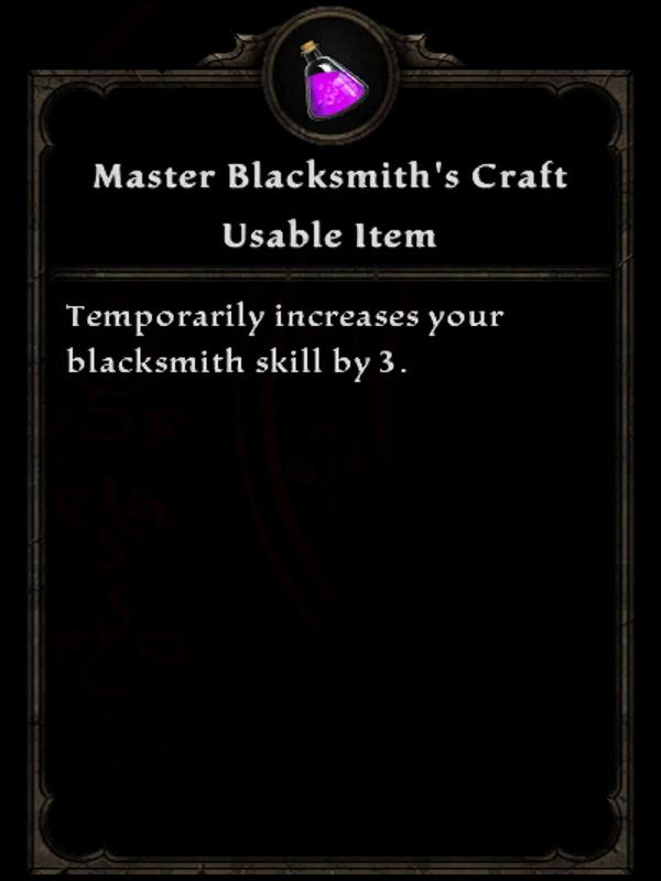 Master Blacksmith's Craft