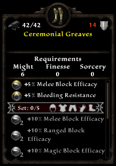 Ceremonial Greaves