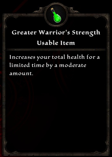 Greater Warrior's Strength