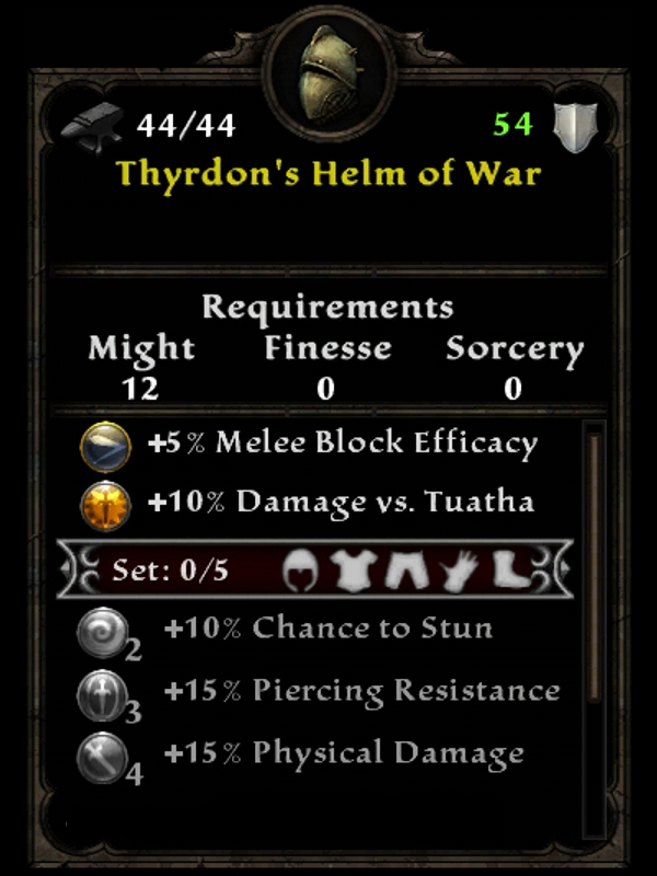 Thyrdon's Helm of War