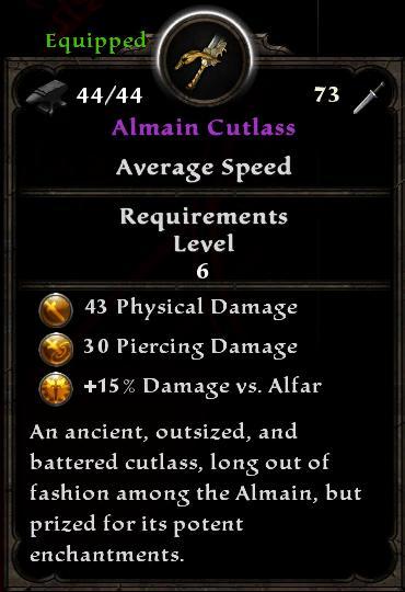 Almain Cutlass