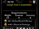 Lewys Tun's Gauntlets