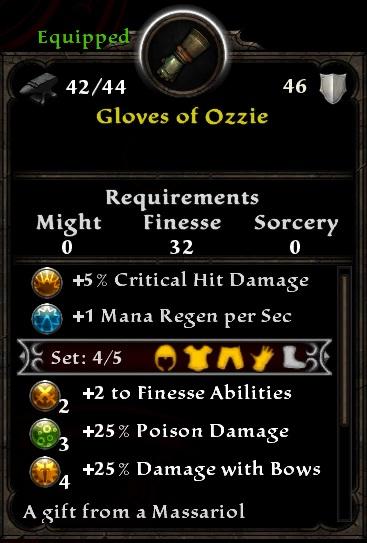 Gloves of Ozzie