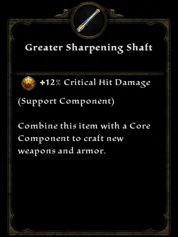 Greater Sharpening Shaft