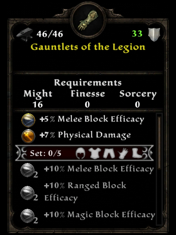 Gauntlets of the Legion