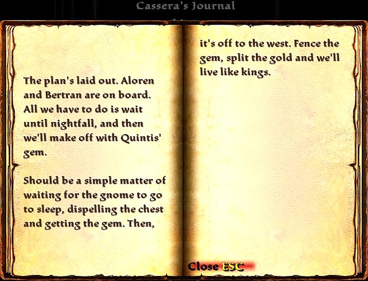 Cassera's Journal