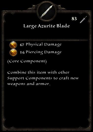Large Azurite Blade