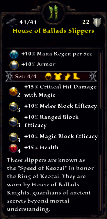 House of Ballads Armor Set