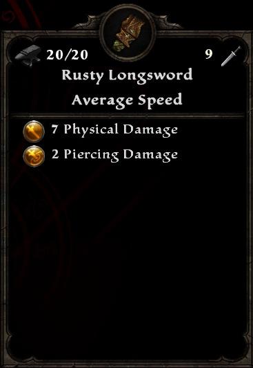Rusty Longsword