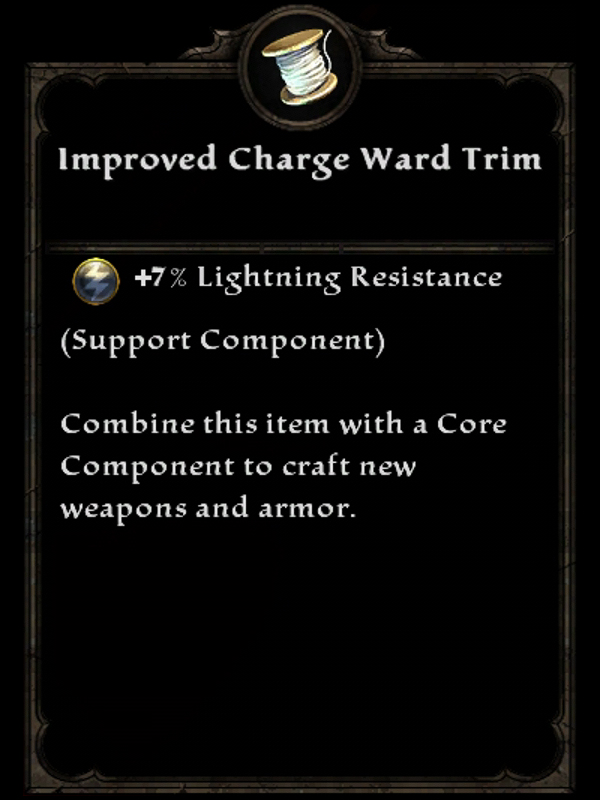 Improved Charge Ward Trim