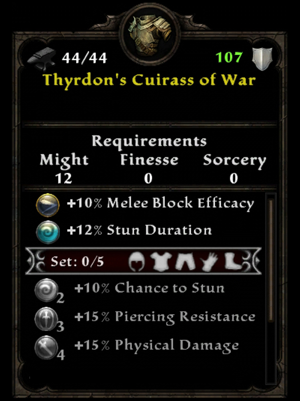 Thyrdon's Cuirass of War