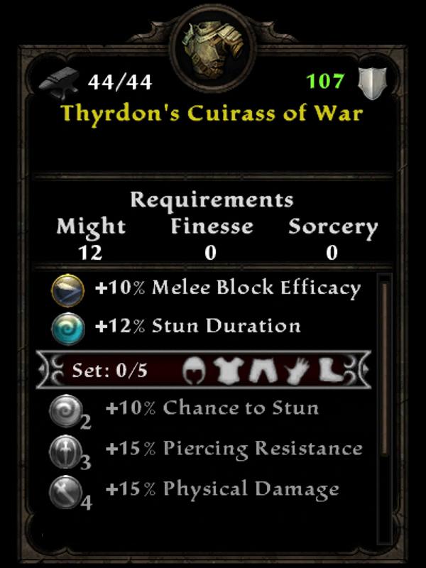 Thyrdon's Cuirass of War