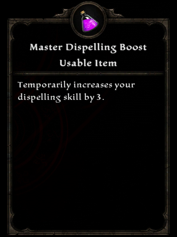 Master Dispelling Boost