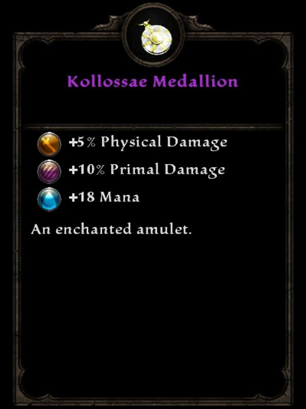Kollossae Medallion