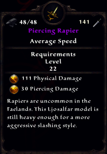 Piercing Rapier