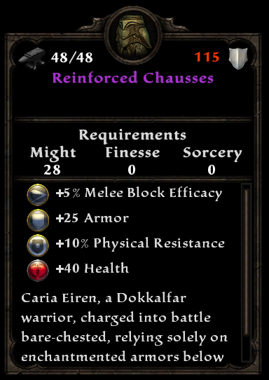 Reinforced Chausses