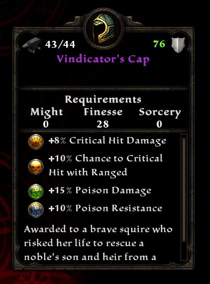Vindicator's Cap
