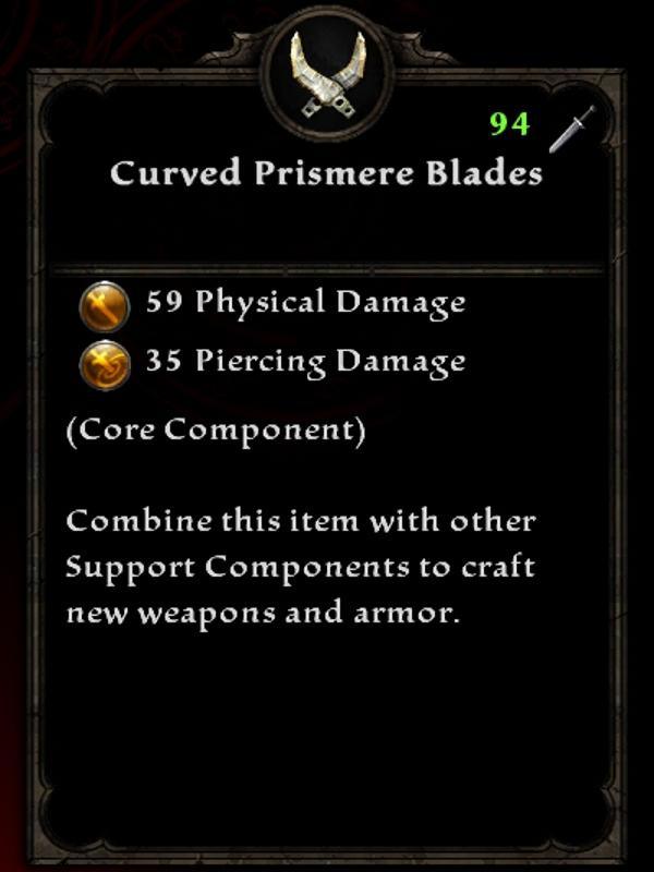 Curved Prismere Blades