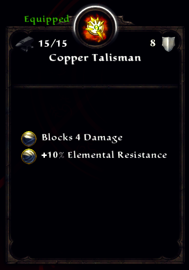 Copper Talisman
