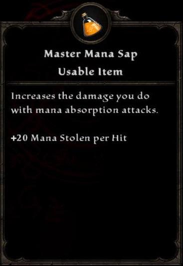 Master Mana Sap