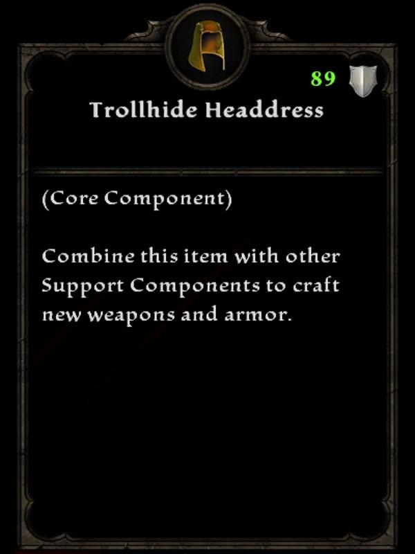 Trollhide Headdress