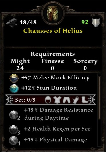 Chausses of Helius