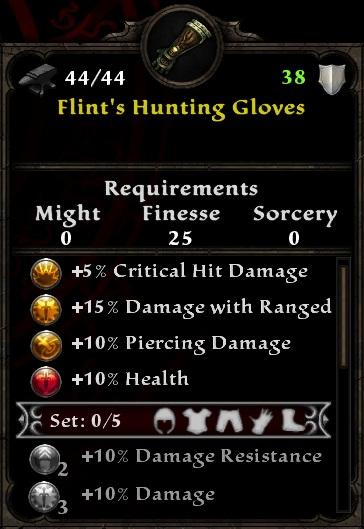 Flint's Hunting Gloves