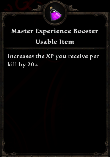 Master Experience Booster