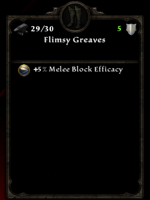 Flimsy Greaves