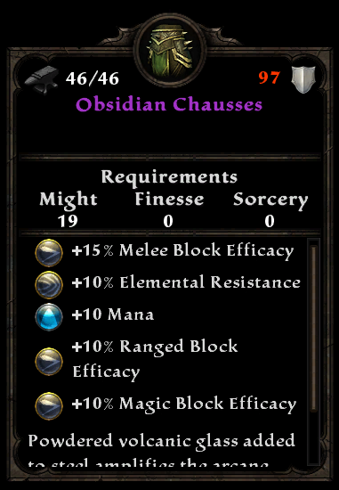 Obsidian Chausses