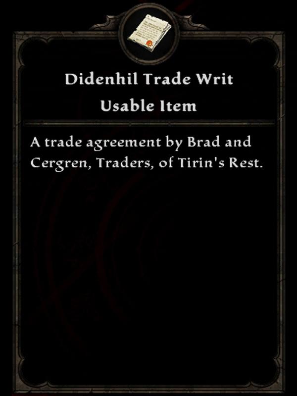 Didenhil Trade Writ