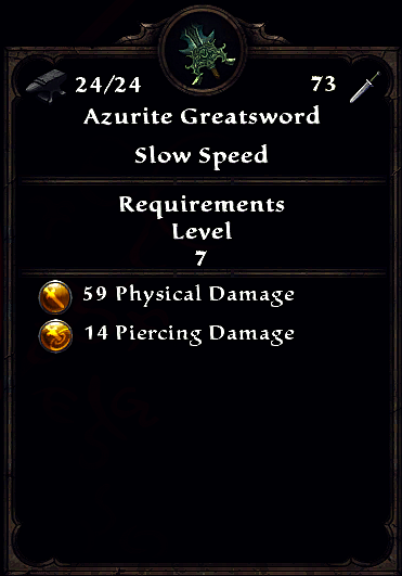 Azurite Greatsword