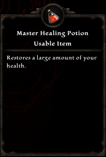 Master Healing Potion